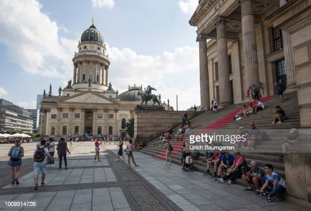 Berlin capital of the Federal Republic of Germany Exterior view Deutscher Dom and the Konzerthaus Berlin at the Gendarmenmarkt