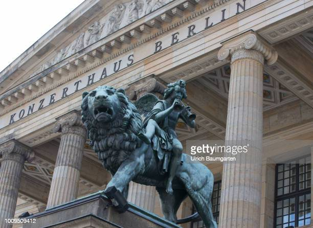 Berlin capital of the Federal Republic of Germany Exterior view of the Konzerthaus Berlin at the Gendarmenmarkt