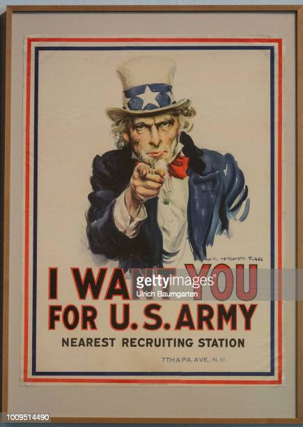 Berlin capital of the Federal Republic of Germany German Historical Museum Poster with the inscription I WANT YOU FOR US ARMY