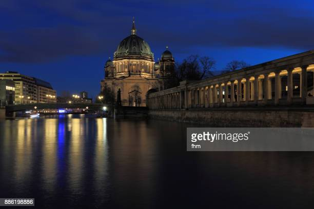 Berlin Cathedral and Museum Island near Spree river (Berlin-Mitte, Germany)