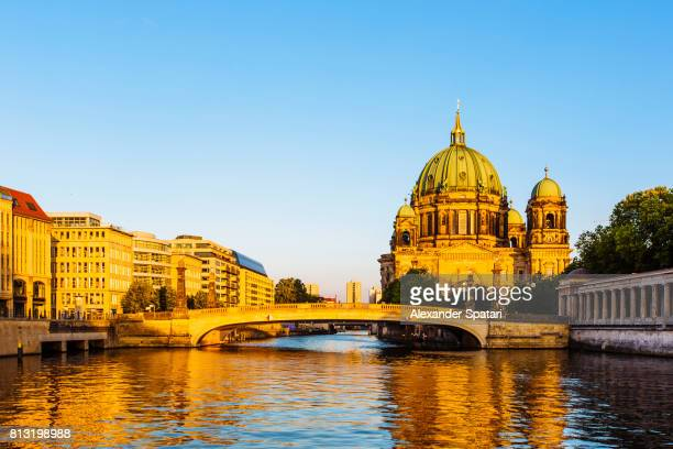 Berlin Cathedral (Berliner Dom) and Spree river, Berlin, Germany