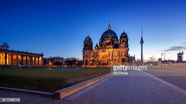 berlin cathedral at sunset