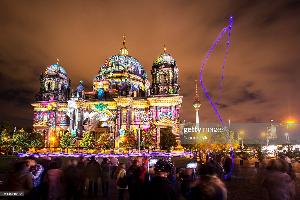 Berlin Cathedral - Berliner Dom illuminated : Stock Photo
