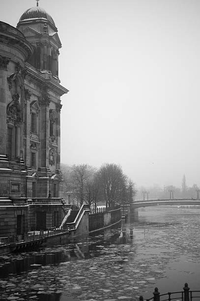 Berlin Cathedral in cold winter