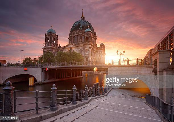 Berlin Cathedral with moody sky