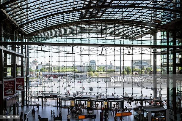 La gare centrale de Berlin, en Allemagne
