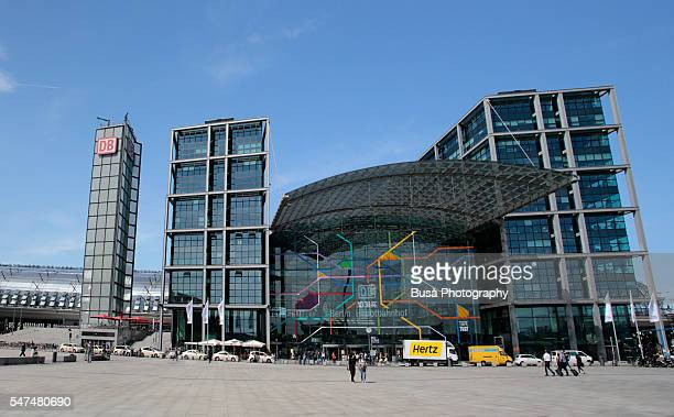 Berlin Central Station (Hauptbahnhof), outdoor view of main entrance, Berlin, Germany