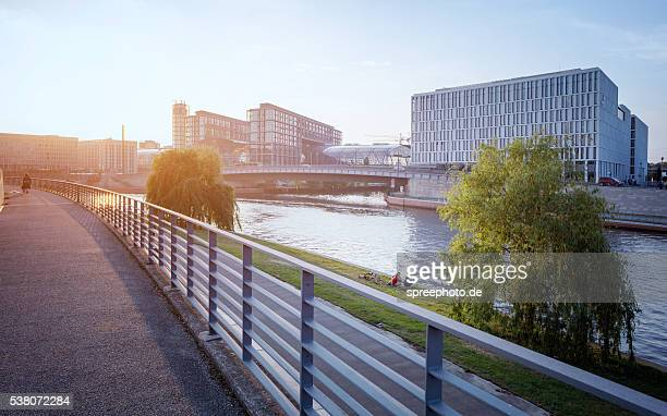 Berlin central station with spree river
