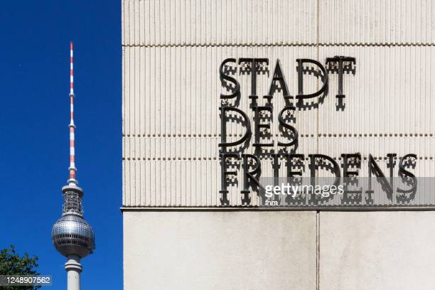 berlin - city of peace (german: stadt des friedens) - stadt stock pictures, royalty-free photos & images