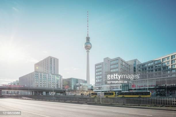 berlin city shutdown - berlin stock-fotos und bilder
