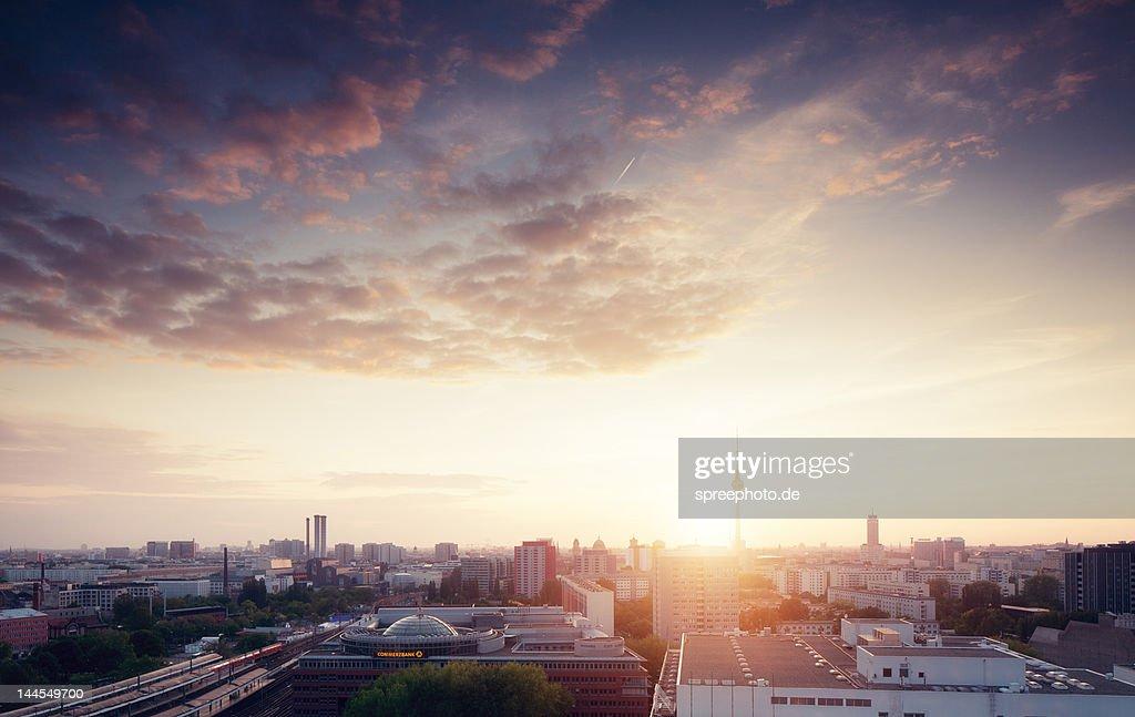 Berlin city skyline : Stock Photo