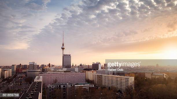 Berlin city skyline with Fernsehturm