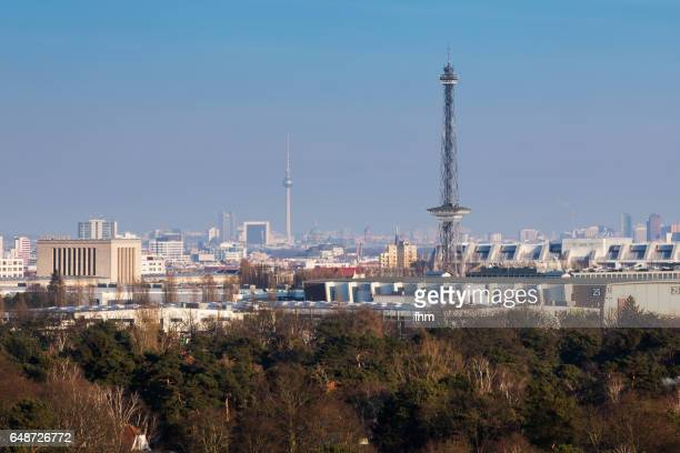 Berlin city skyline with Radiotower and Televisiontower (Germany)
