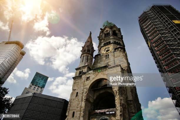berlin city west, kaiser wilhelm memorial church - kurfürstendamm stock pictures, royalty-free photos & images