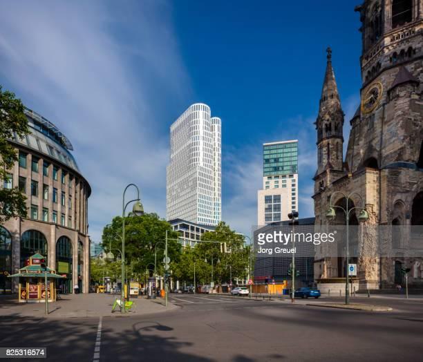 berlin city west - memorial kaiser wilhelm - fotografias e filmes do acervo
