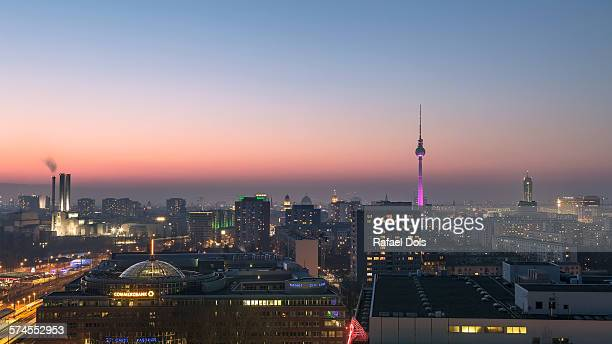 Berlin cityscape at dusk