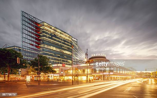 berlin cityscape at kudamm with cafe kranzler - kurfürstendamm stock pictures, royalty-free photos & images