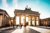 Berlin cityscape at sunset - Brandenburg Gate