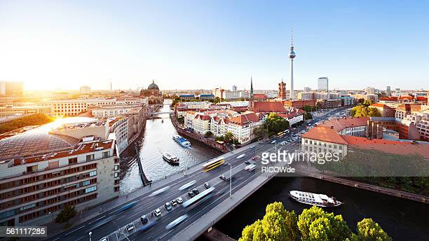 berlin cityscape - berlin stock pictures, royalty-free photos & images