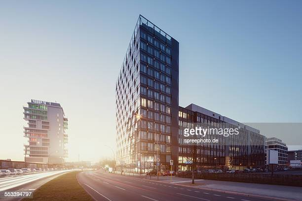 berlin cityscape with modern archtitecture - mercedes benz stock pictures, royalty-free photos & images