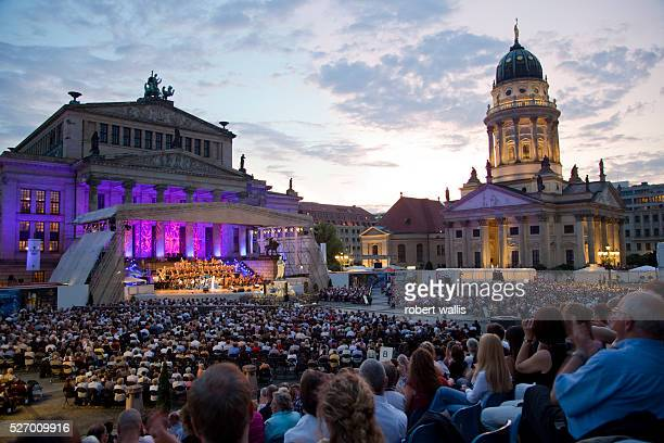 Berlin Classic Open Air concerts are held every summer in the restored Gendarmenmarkt square which was heavily damaged during World War 2 The...