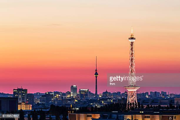Berlin colorful sunrise