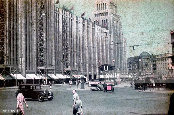 Berlin Departmentstore Karstadt Hermannplatz 1937