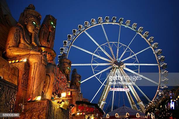 Berlin, Ferris wheel at the Christmas market near Alexanderplatz