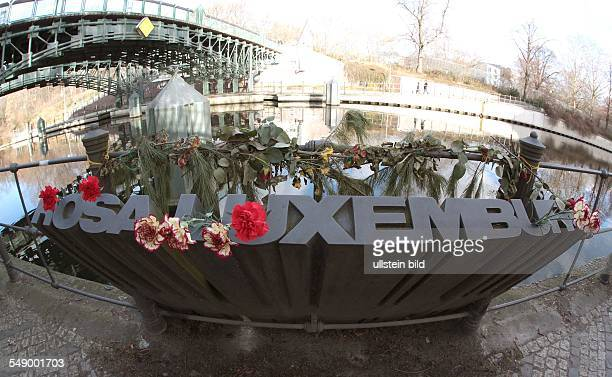Flowers at Rosa Luxemburg memorial
