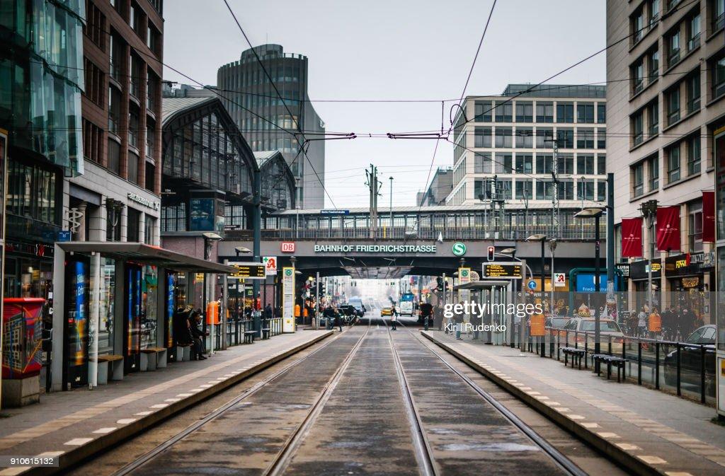 Berlin Friedrichstrasse railroad station : ストックフォト