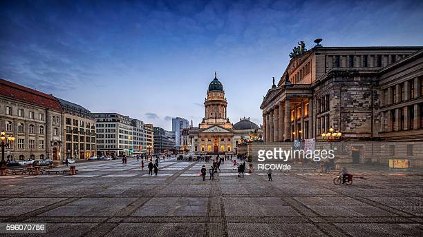 berlin gendarmenmarkt at sunset