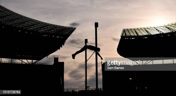 Berlin Germany 12 August 2018 A general view of the Men's Pole Vault Final during Day 6 of the 2018 European Athletics Championships at The Olympic...