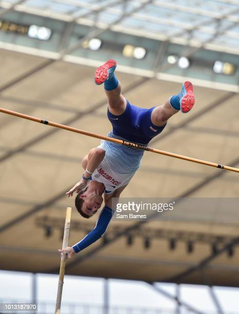 Berlin Germany 8 August 2018 Tim Duckworth of Great Britain competing in the Men's Decathlon Pole Vault event during Day 2 of the 2018 European...