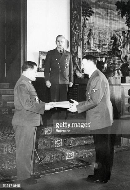 Berlin, Germany: A Letter For Mr. Hitler. A personal letter from Japanese Emperor Hirohito is presented Chancellor Adolf Hitler , by the Japanese...