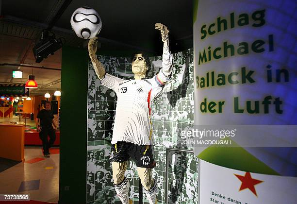 An effigy of German football player Michael Ballack made of Lego bricks forms part of the Stars exhibit at Berlin's Legoland Discovery Centre 29...