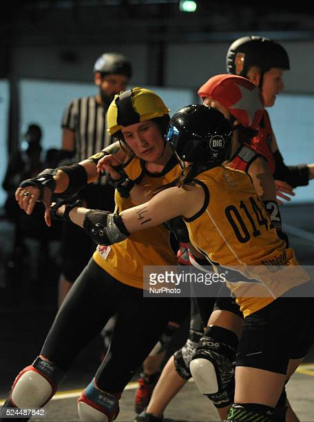 Berlin Bombshells against Glasgow Roller Derby The Berlin Bombshells defeat the Glasgow Roller Derby Roller derby is an Americaninvented contact...