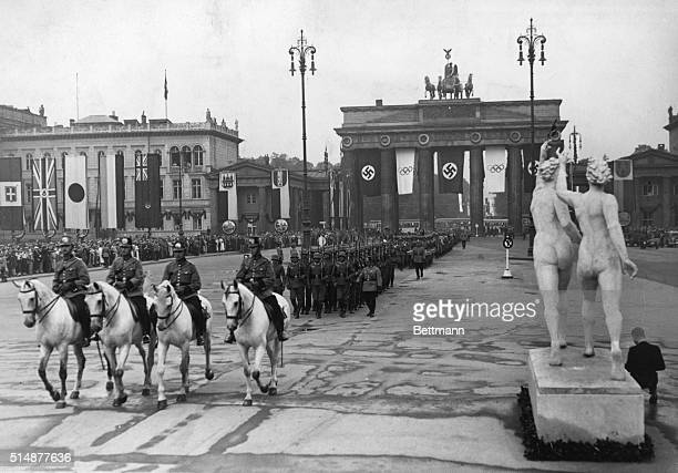 Berlin on the day of the opening of the Olympic Games 1936