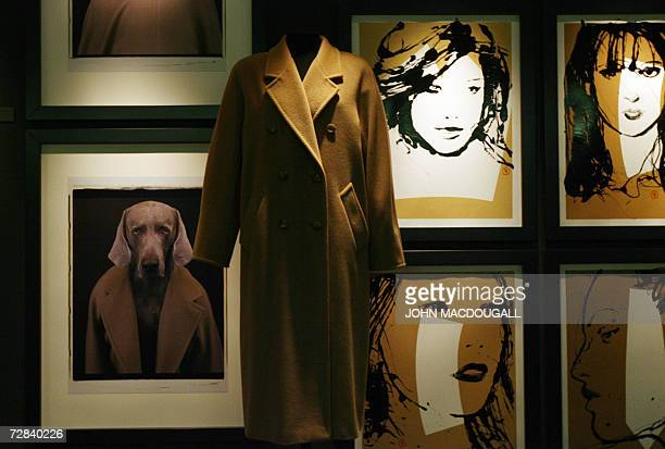 Cashmere and wool coat no 101801 by designer Anne Marie Beretta from 1981 is on display at the exhibition Coats at Berlin's Kulturforum 16 December...