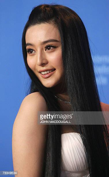 Chinese actress Fan BingBing poses during a photocall for the film Ping Guo Lost in Beijing by Chinese director Li Yu competing for the Golden Bear...