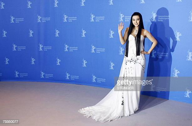 Chinese actress Fan BingBing poses during a photocall for their film Ping Guo Lost in Beijing by Chinese director Li Yu competing for the Golden Bear...