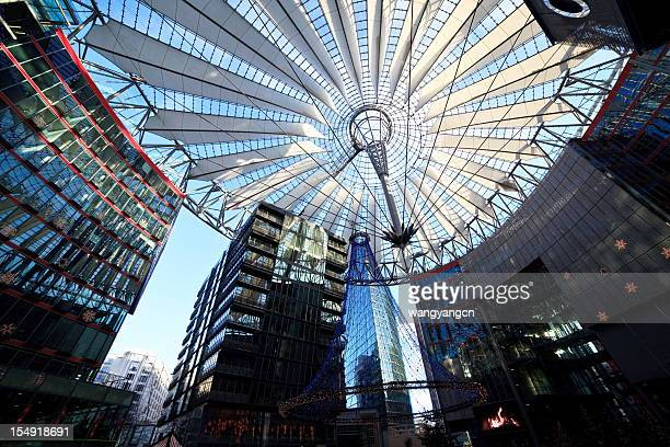 berlin, germany, europe - sony center berlin stock pictures, royalty-free photos & images