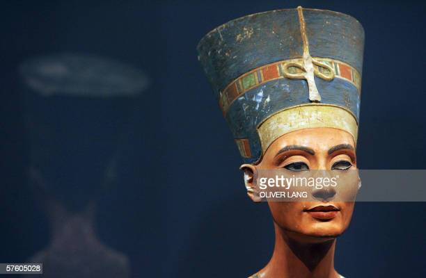 FILES View taken 12 August 2005 shows the bust of one of history's great beauties Queen Nefertiti of Egypt after it returned to Berlin's Museum...