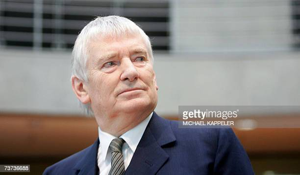 Former Interior Minister of Germany Otto Schily waits before testifying before a parliamentary committee probing claims by Germanborn Turk Murat...