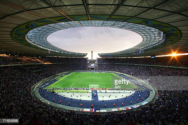 General view of the Olympiastadion in Berlin during the World Cup 2006 final football game Italy vsFrance 09 July 2006 AFP PHOTO / STAFF REMOTE