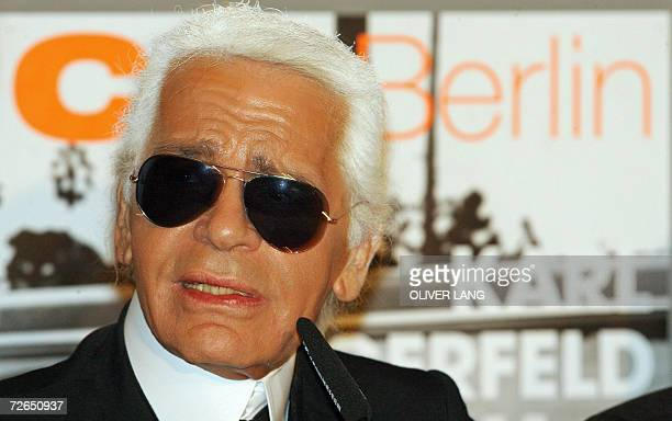 German fashion designer and photographer Karl Lagerfeld presents his work 24 November 2006 at the C/OCultural Forum for Photography in Berlin Until...