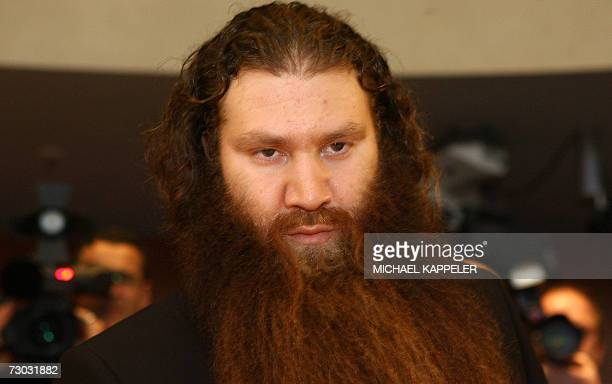 Germanborn Turk Murat Kurnaz a former detainee at the USrun Guantanamo Bay prison arrives 18 January 2007 at the German Parliament in Berlin to give...