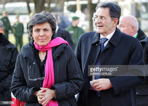 Italian Prime Minister Romano Prodi and his wife Flavia Franzoni arrive at the Philharmonic where they will attend an orchestra conducted by Sir...