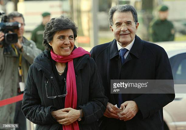 Italian Prime Minister Romano Prodi and his wife Flavia Franzoni arrive at the Philharmonic where they attend a concert conducted by Sir Simon Rattle...