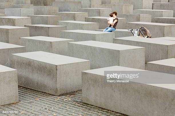 Berlin Germany July 30 2013 The Memorial to the Murdered Jews of Europe also known as the Holocaust Memorial is a memorial in Berlin to the Jewish...