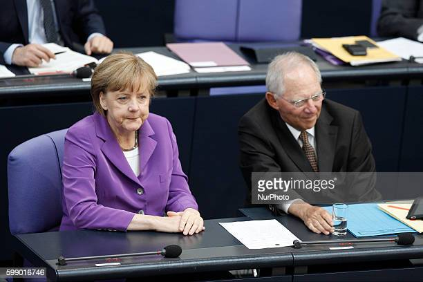 Berlin Germany May 08th 2014 33rd session of the German Parliament first consultation of the draft of a law on the fundamental reform of the...